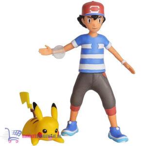 Pokémon Battle Feature Figure Ash + Pikachu (Launching Action)