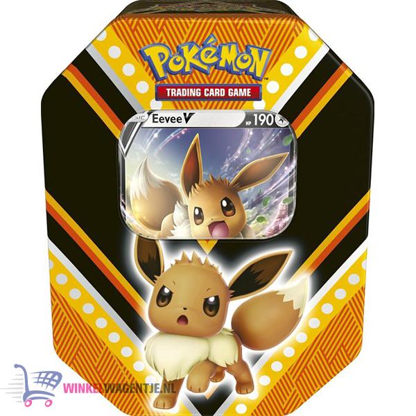 Pokémon Kaarten V-Powers Tin (Eevee) + Random Pikachu Sleutelhanger!