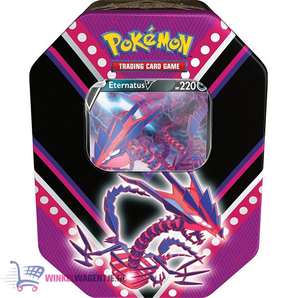 Pokémon Kaarten V-Powers Tin (Eternatus) + Random Pikachu Sleutelhanger!