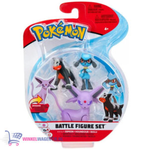 Pokémon Battle Figure Set: Espeon + Houndour + Riolu (Speelfiguren)