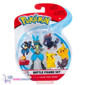 Pokémon Battle Figure Set: Lucario + Zorua + Pikachu (Speelfiguren)