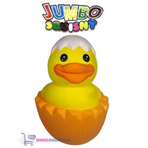 JUMBO Squishy Geel Eendje 15 cm