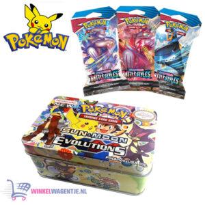 Pokémon Kaarten TCG Sword & Shield Battle Styles Booster Pack + Pokémon Mini Tin + Pikachu Sleutelhanger + 3 Pokémon Stickers!
