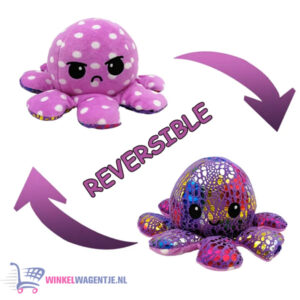 Octopus 'Mood' Pluche Knuffel (Shiny Purple) 15 cm