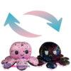 Octopus 'Mood' Pluche Knuffel (Roze/Zwart Stars) 15 cm