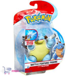 Pokémon Battle Feature Figure Blastoise (Deluxe Action) + Pikachu Sleutelhanger!