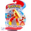 Pokémon Battle Feature Figure Blaziken (Deluxe Action) + Pikachu Sleutelhanger + 3 Pokemon Stickers!