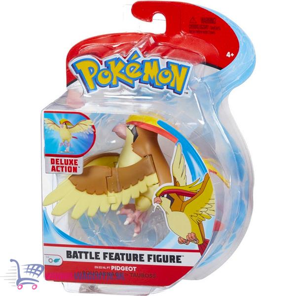 Pokémon Battle Feature Figure Pidgeot (Deluxe Action) + Pikachu Sleutelhanger + 3 Pokemon Stickers!