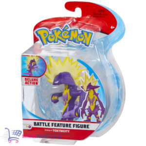 Pokémon Battle Feature Figure Toxtricity (Deluxe Action) + Pikachu Sleutelhanger + 3 Pokemon Stickers!