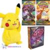 Pokémon Sword & Shield Darkness Ablaze Mini Portfolio + 2 st. Pokemon Booster Packs + Pikachu Pluche Knuffel 20 cm!