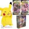 Pokémon Sword & Shield Darkness Ablaze Mini Portfolio + 2 st. Pokemon Booster Packs + Pikachu Pluche Knuffel 20 cm! (kopie)