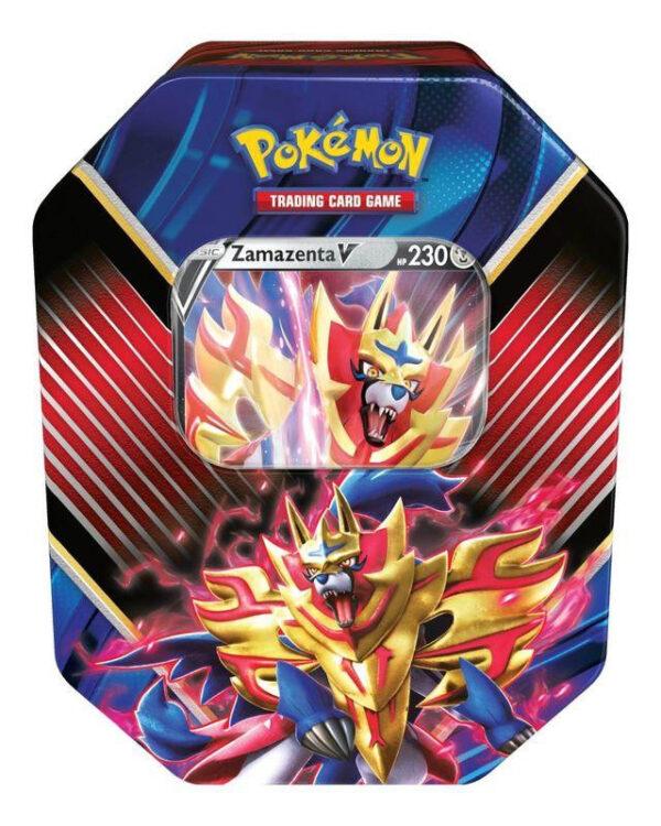 Pokémon Kaarten Legends Of Galar Tin (Zamazenta) + Pikachu Sleutelhanger + 3 Pokemon Stickers!