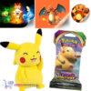 Pokémon Sword & Shield Vivid Voltage Booster Pack + Pokemon Pikachu Pluche Knuffel 20 cm + 3 Pokémon Stickers!