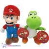 Super Mario Knuffel Set (Mario Bros 28 cm + Yoshi 27 cm)