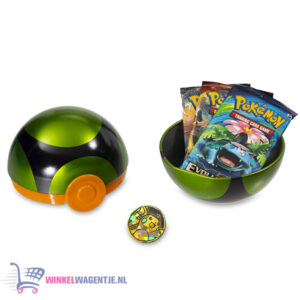Pokémon Kaarten TCG Poké Ball Tin (Dusk Ball) + Pokemon Pikachu Sleutelhanger + 3 Pokémon Stickers!