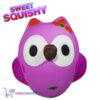 Sweet Squishy Figuurtje Paarse Uil 10 cm
