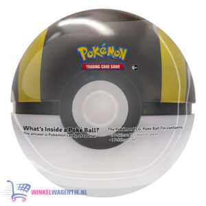 Pokémon Kaarten TCG Poké Ball Tin (Ultra Ball) + Pokemon Pikachu Sleutelhanger + 5 Pokémon Stickers!