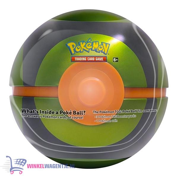 Pokémon TCG Poké Ball Tin (Ultra Ball) + Pokemon Pikachu Sleutelhanger + 3 Pokémon Stickers!