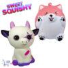 2 st. Sweet Squishy Speelfiguren Funky Cat + Happy Woof 10 cm