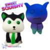 2 st. Sweet Squishy Speelfiguren Stropdas Kat + Magic Harper 10 cm