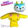 2 st. Sweet Squishy Speelfiguren Gele Eppo + Hertje 10 cm