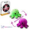 Octopus Mood Pluche Knuffel Omkeerbaar (Paars/Groen) + Luxe Fidget Spinner!