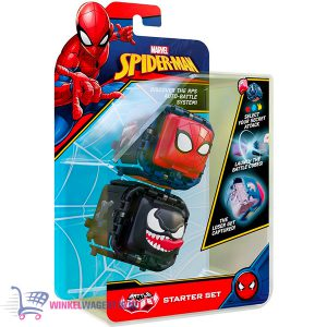 Marvel Fidget Battle Cube: Spiderman VS Venom + Star Wars The Mandalorian & Super Mario Bros Sticker!