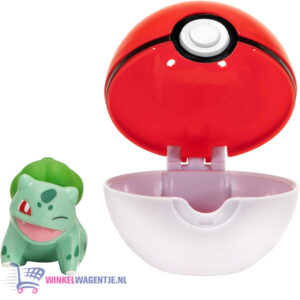 Pokemon Clip 'N Go - Bulbasaur + Poké Ball - Speelgoed