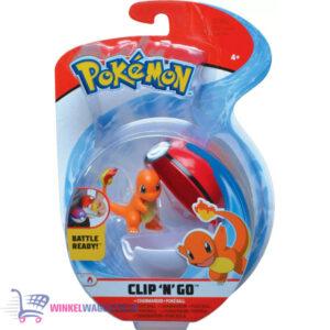 Pokemon Clip 'N Go - Charmander + Poké Ball - Speelgoed