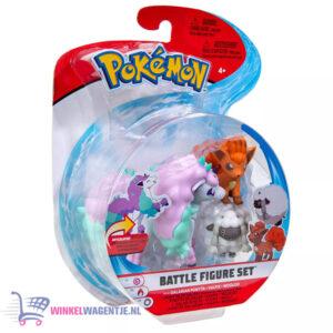 Pokémon Battle Figure Set - Galarian Ponyta + Vulpix + Wooloo