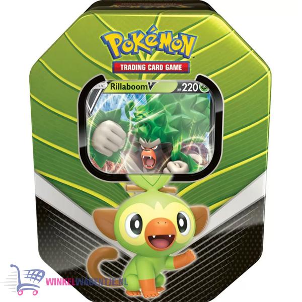 Pokémon Kaarten Galar Spring Tin - Grookey Rillaboom V