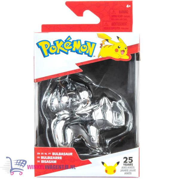 Bulbasaur Zilver - Pokémon Battle Figure Limited Edition - 25th Celebration (7 cm)
