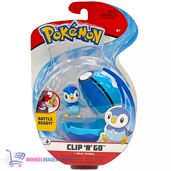 Pokemon Clip 'N Go – Piplup+ Dive Ball – Speelgoed