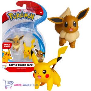 Pokémon Battle Figure Pack - Pikachu + Eevee