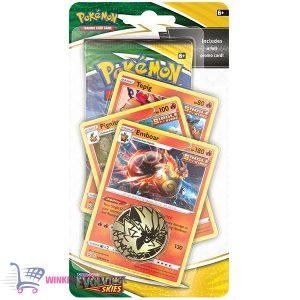 Pokémon Kaarten (10 stuks) Sword & Shield Evolving Skies Checklane - Emboar Pignite Tepig