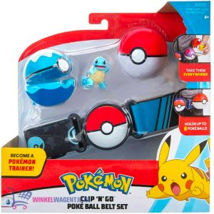 Pokémon Clip 'N Go Gordelset - Squirtle Poké Ball + Pokémon Balpen + 5 Pokémon Stickers