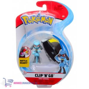 Pokemon Clip 'N Go – Riolu + Ultra Ball – Speelgoed
