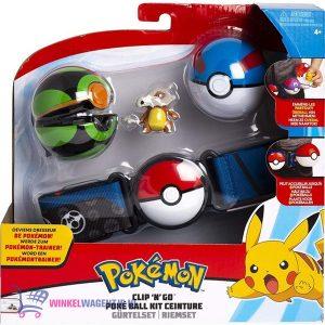 Pokémon Clip 'N Go Gordelset - Cubone Poké Ball + Pokémon Balpen + 5 Pokémon Stickers