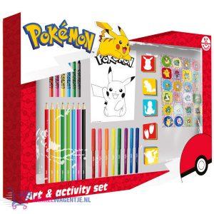 Pokémon Art & Activity Set 67 stuks (Stiften Pennen Krijten Stickers Kleurplaten)