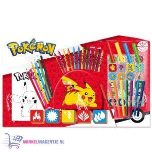 Pokémon Art & Activity Set 60 stuks (Stiften Pennen Krijten Stickers Kleurplaten)